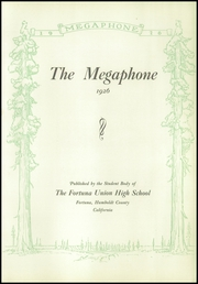 Page 7, 1926 Edition, Fortuna Union High School - Megaphone Yearbook (Fortuna, CA) online yearbook collection