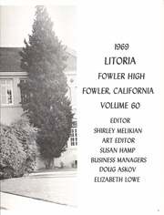 Page 7, 1969 Edition, Fowler High School - Litoria Yearbook (Fowler, CA) online yearbook collection