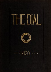 Framingham State University - Dial Yearbook (Framingham, MA) online yearbook collection, 1920 Edition, Cover