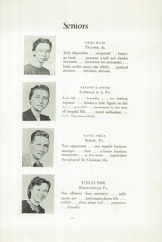 Page 15, 1949 Edition, Franconia Mennonite School - Laureate Yearbook (Souderton, PA) online yearbook collection