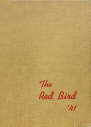 Frankfort Community High School - Red Bird Yearbook (West Frankfort, IL) online yearbook collection, 1941 Edition, Cover