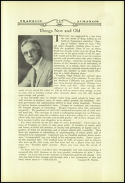Page 15, 1927 Edition, Franklin High School - Almanac Yearbook (Los Angeles, CA) online yearbook collection