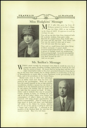 Page 16, 1927 Edition, Franklin High School - Almanac Yearbook (Los Angeles, CA) online yearbook collection