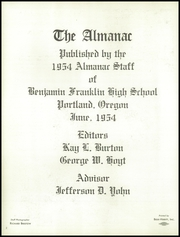 Page 6, 1954 Edition, Franklin High School - Post Yearbook (Portland, OR) online yearbook collection