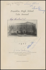 Page 7, 1927 Edition, Franklin High School - Tolo Yearbook (Seattle, WA) online yearbook collection
