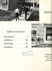 Page 8, 1969 Edition, Franklin Junior High School - Kite N Key Yearbook (Fort Wayne, IN) online yearbook collection
