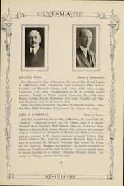 Franklin and Marshall Academy - Epilogue Yearbook (Lancaster, PA) online yearbook collection, 1919 Edition, Page 15
