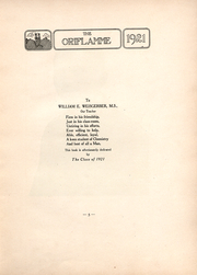 Page 7, 1921 Edition, Franklin and Marshall College - Oriflamme Yearbook (Lancaster, PA) online yearbook collection