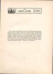 Page 9, 1921 Edition, Franklin and Marshall College - Oriflamme Yearbook (Lancaster, PA) online yearbook collection