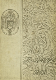 Frederick High School - Last Word Yearbook (Frederick, MD) online yearbook collection, 1953 Edition, Cover