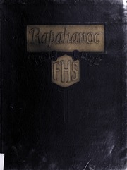 Fredericksburg High School - Rapahanoc Yearbook (Fredericksburg, VA) online yearbook collection, 1924 Edition, Cover