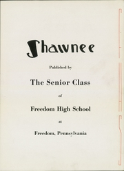 Page 7, 1945 Edition, Freedom Area High School - Shawnee Yearbook (Freedom, PA) online yearbook collection