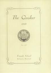 Page 9, 1928 Edition, Friends School of Baltimore - Quaker Yearbook (Baltimore, MD) online yearbook collection