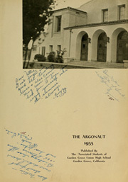 Garden Grove High School - Argonaut Yearbook (Garden Grove, CA) online yearbook collection, 1935 Edition, Page 5