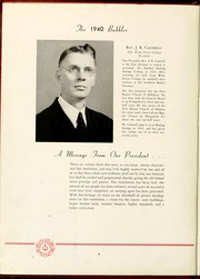 Gardner Webb University - Web / Anchor Yearbook (Boiling Springs, NC) online yearbook collection, 1940 Edition, Page 10 of 64