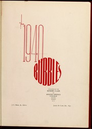 Gardner Webb University - Web / Anchor Yearbook (Boiling Springs, NC) online yearbook collection, 1940 Edition, Page 5 of 64