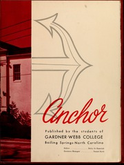 Gardner Webb University - Web / Anchor Yearbook (Boiling Springs, NC) online yearbook collection, 1958 Edition, Page 7