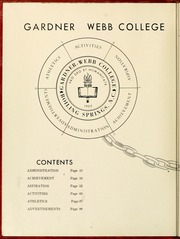 Gardner Webb University - Web / Anchor Yearbook (Boiling Springs, NC) online yearbook collection, 1958 Edition, Page 8 of 124
