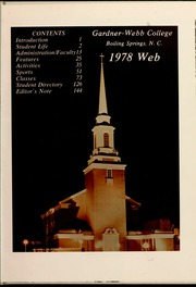 Gardner Webb University - Web / Anchor Yearbook (Boiling Springs, NC) online yearbook collection, 1978 Edition, Page 5