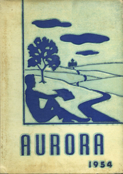 Gaston High School - Aurora Yearbook (Gaston, IN) online yearbook collection, 1954 Edition, Cover