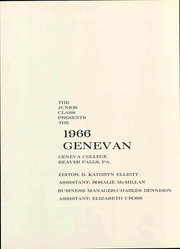 Page 7, 1966 Edition, Geneva College - Genevan Yearbook (Beaver Falls, PA) online yearbook collection