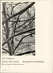 Page 7, 1971 Edition, Geneva College - Genevan Yearbook (Beaver Falls, PA) online yearbook collection