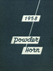 George Rogers Clark High School - Powder Horn Yearbook (Whiting, IN) online yearbook collection, 1958 Edition, Cover