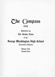 Page 9, 1936 Edition, George Washington High School - Compass Yearbook (Alexandria, VA) online yearbook collection