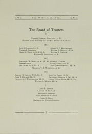Page 13, 1911 Edition, George Washington University - Cherry Tree Yearbook (Washington, DC) online yearbook collection