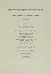 Page 15, 1911 Edition, George Washington University - Cherry Tree Yearbook (Washington, DC) online yearbook collection