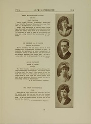 George Washington University - Cherry Tree Yearbook (Washington, DC) online yearbook collection, 1915 Edition, Page 17