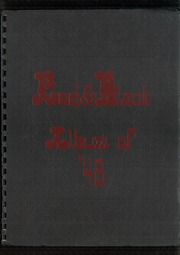 Glens Falls High School - Red and Black Yearbook (Glens Falls, NY) online yearbook collection, 1948 Edition, Cover