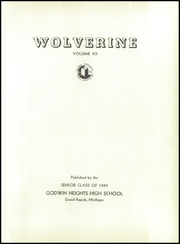 Godwin Heights High School - Wolverine Yearbook (Grand Rapids, MI) online yearbook collection, 1949 Edition, Page 5