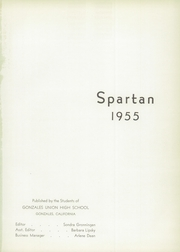 Gonzales High School - Spartan Yearbook (Gonzales, CA) online yearbook collection, 1955 Edition, Page 5