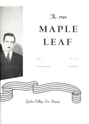 Page 7, 1948 Edition, Goshen College - Maple Leaf Yearbook (Goshen, IN) online yearbook collection