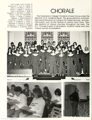 Greensboro College - Echo Yearbook (Greensboro, NC) online yearbook collection, 1986 Edition, Page 106