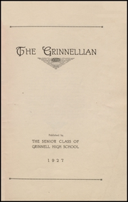 Grinnell High School - Grinnellian Yearbook (Grinnell, IA) online yearbook collection, 1927 Edition, Page 3