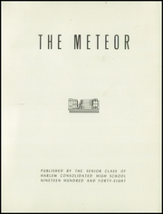 Harlem High School - Meteor Yearbook (Machesney Park, IL) online yearbook collection, 1948 Edition, Page 5 of 164