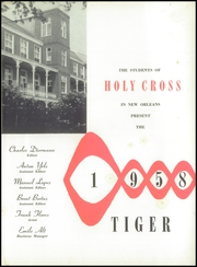 Holy Cross High School - Tiger Yearbook (New Orleans, LA) online yearbook collection, 1958 Edition, Page 5