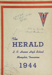 Humes High School - Senior Herald Yearbook (Memphis, TN) online yearbook collection, 1944 Edition, Page 1