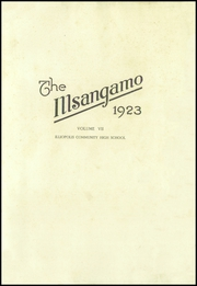 Illiopolis High School - Pirate Log Yearbook (Illiopolis, IL) online yearbook collection, 1923 Edition, Page 7 of 106