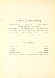 Lake Forest College - Forester Yearbook (Lake Forest, IL) online yearbook collection, 1907 Edition, Page 12