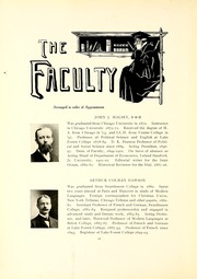 Lake Forest College - Forester Yearbook (Lake Forest, IL) online yearbook collection, 1907 Edition, Page 16