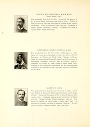 Lake Forest College - Forester Yearbook (Lake Forest, IL) online yearbook collection, 1907 Edition, Page 18