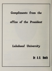 Lakehead University Geology - Journal Yearbook (Thunder Bay, Ontario Canada) online yearbook collection, 1978 Edition, Page 8