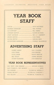 Lakehead University - Yearbook (Thunder Bay, Ontario Canada) online yearbook collection, 1952 Edition, Page 14