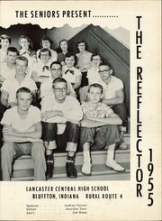 Lancaster High School - Reflector Yearbook (Bluffton, IN) online yearbook collection, 1955 Edition, Page 5