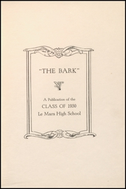 Le Mars Community High School - Bark Yearbook (Le Mars, IA) online yearbook collection, 1930 Edition, Page 5