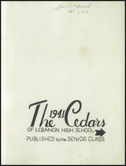 Lebanon High School - Cedars Yearbook (Lebanon, IN) online yearbook collection, 1941 Edition, Page 3