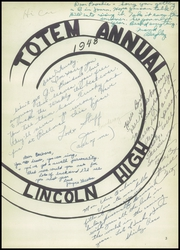 Lincoln High School - Totem Yearbook (Seattle, WA) online yearbook collection, 1948 Edition, Page 7